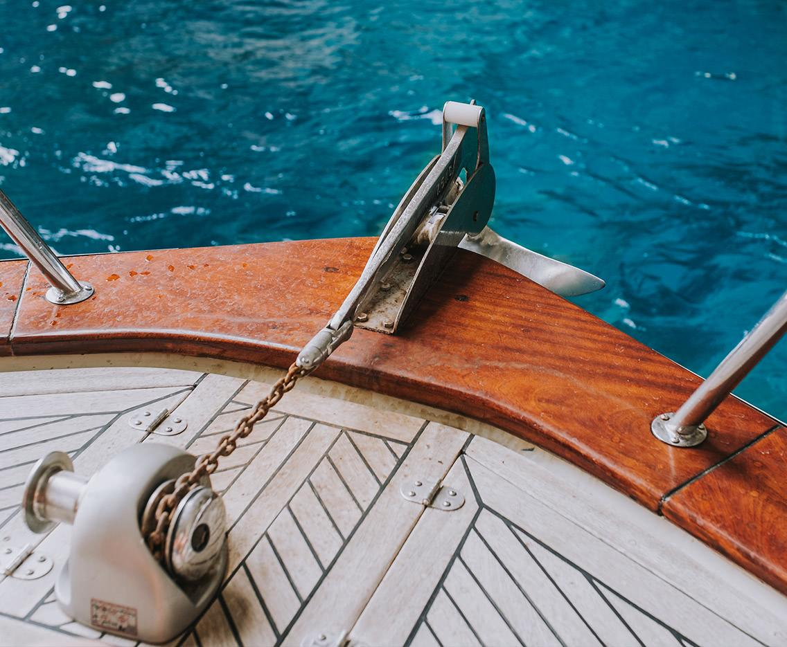 Ankerwinde an Deck