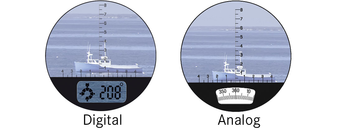 Fernglas Kompass Anzeige