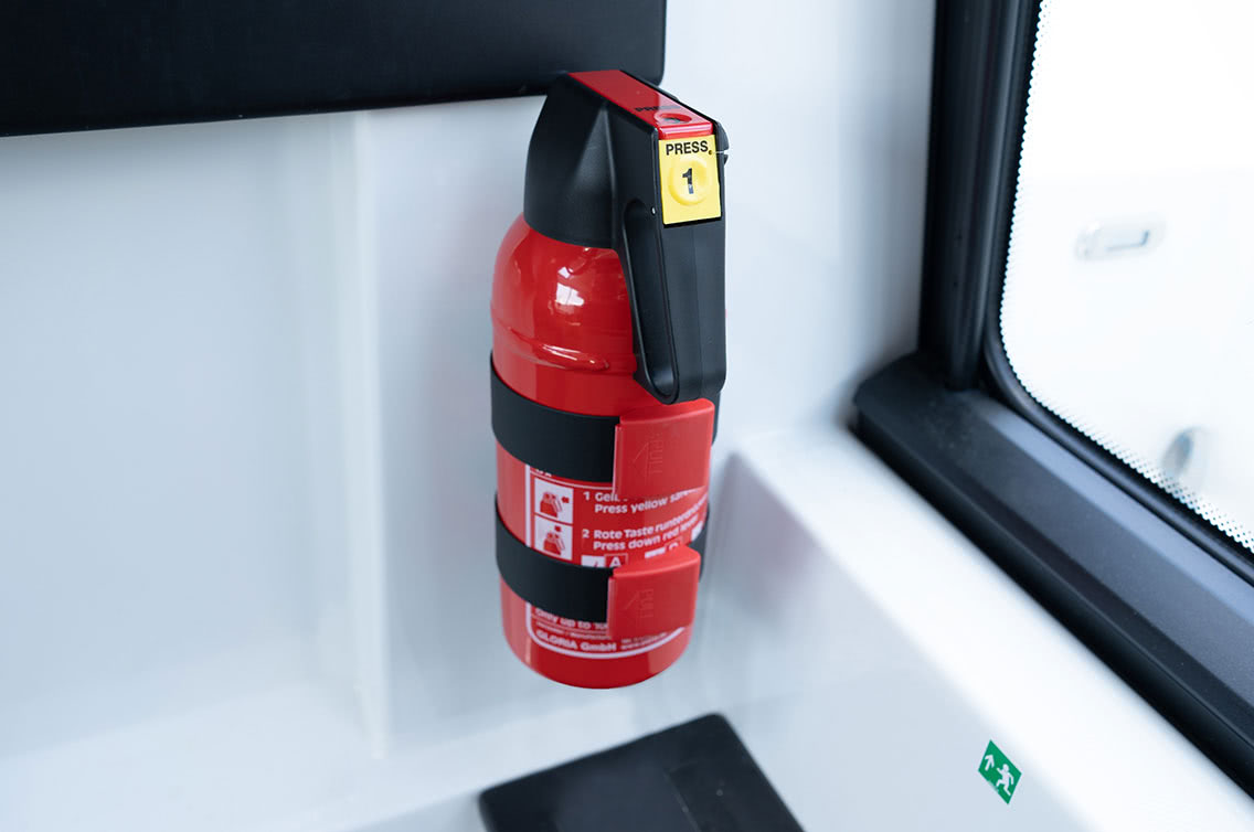 Fire extinguishers on board