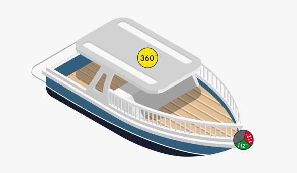 Motorised vessels under 12 m