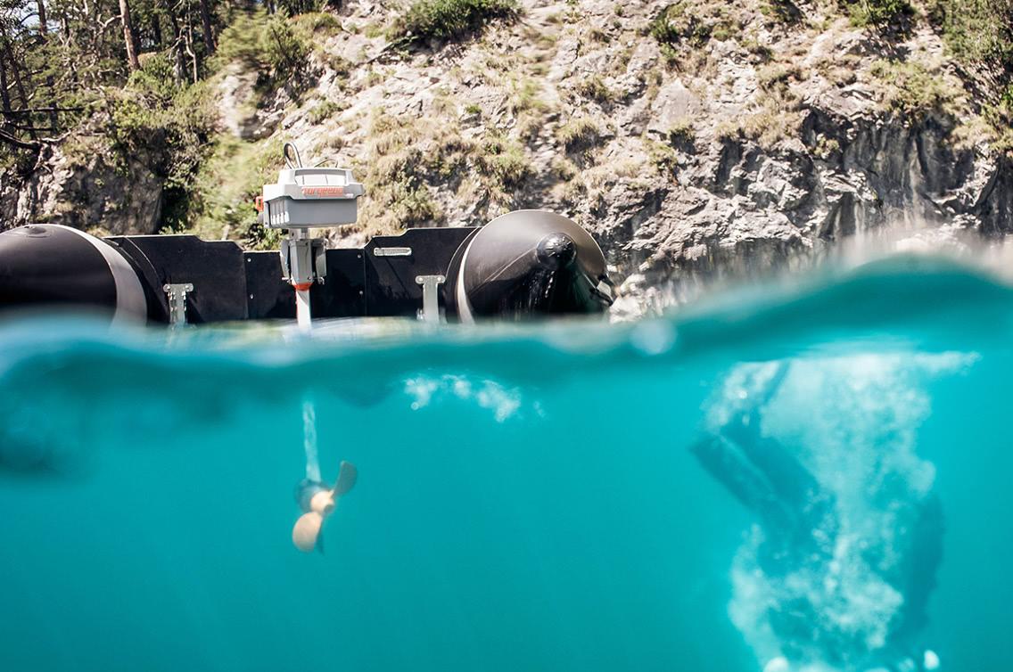 Torqeedo Motor unter Wasser