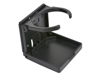 Portabevande pieghevole in plastica / nero