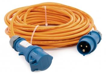 CEE Extension Cable / PUR sheath / orange