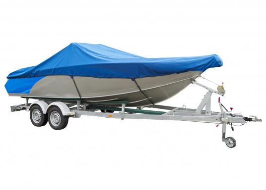 Motorboot-Persenning / blau