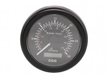 GPS Speedo / schwarz / 30 Knoten