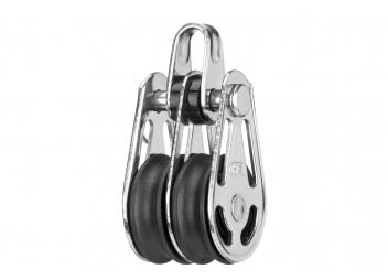 Poulie double Mini à anneau / 6 mm / à friction