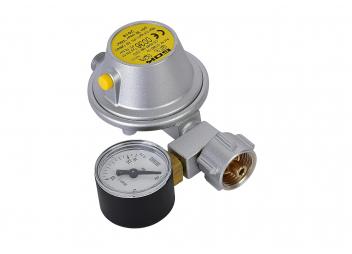 Caravan Gas Pressure Regulator 30 mbar / with pressure gauge