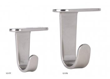 Hooks, Stainless Steel, brushed finish