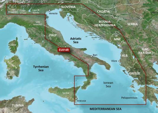 BlueChart G3 EU014R Italien / Adria