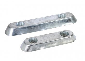 Aluminium - Anoden, flache Bauform mit Bohrung