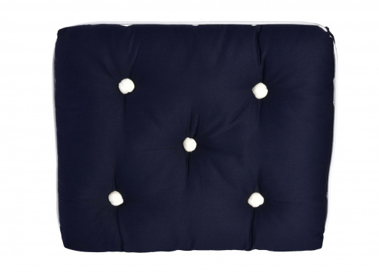 Coussin simple en kapok / bleu marine