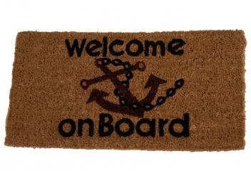 WELCOME ON BOARD Doormat