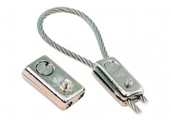 Serre-câble bronze chromé pour système de barre