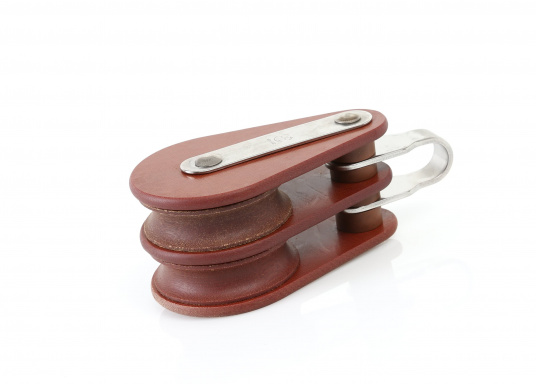 Block mit Bügel, 2-scheibig / 10 mm / Gleitlager