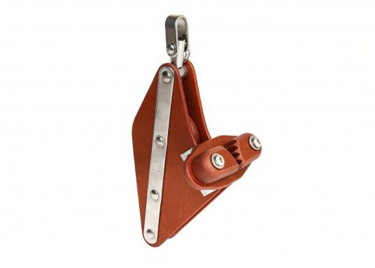 Poulie violon à ringot, émerillon et taquet / 10 mm / à friction