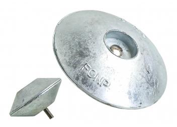 Anodes doubles en zinc rondes, à visser.
