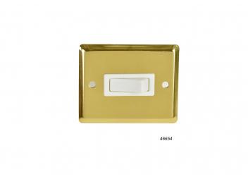 Surface Mount Switch, Single / polished brass