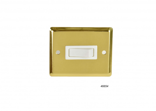 Surface Mount Switch, Single / polished brass