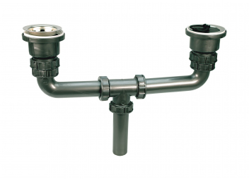 Dual Drain Fitting for Sinks