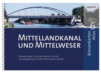 Binnenkarten Atlas 6 Mittellandkanal und Mittelweser