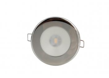 TED LED Ceiling Light / Stainless steel, polished