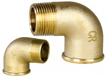 Pipe Elbow 90° female/male, Brass CR