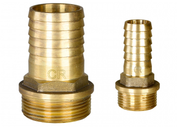 Hose connection / male, Brass CR