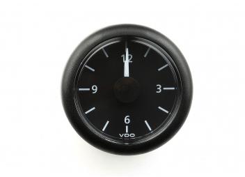 Horloge à quartz Viewline noire
