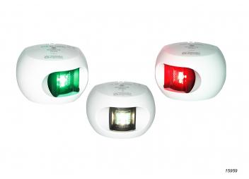 Set: LED luci di navigazione Serie 34: tribordo/babordo/poppa / alloggiamento bianco