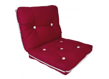 Kapok Double Cushion / bordeaux red