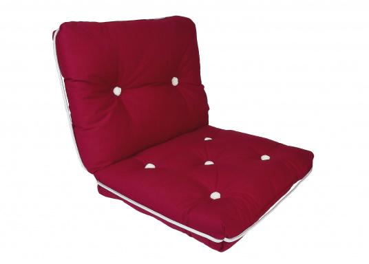 Kapok Double Cushion / bordeaux red