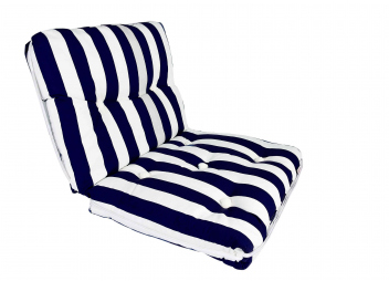 Kapok Double Cushion / navy-stripes