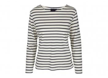Bretonisches Damen-Shirt ANTIBES / weiß/navy