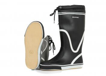Rubber Boots BLACK, high-cut