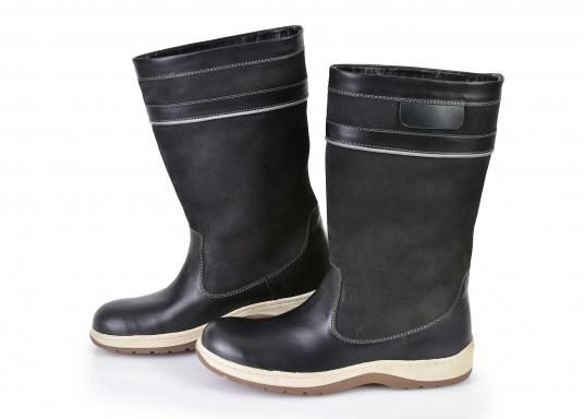 Bottes cuir / anthracite