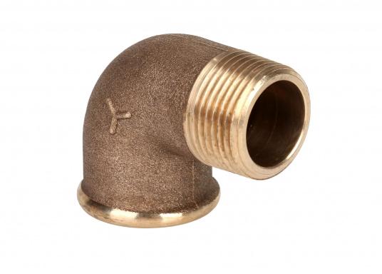 Rohrbogen 90°, IG/AG, Bronze