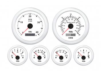 Motorinstrumente-Set / weiß