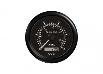 Geschwindigkeitsanzeige mit GPS / 0-15 Knoten