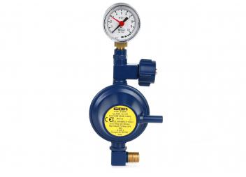 Regolatore di pressione con manometro / 30 mbar