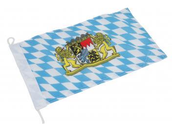 Flagge - Bayern mit Wappen
