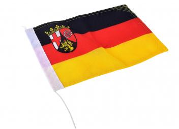Flag - Rhineland-Palatinate with Coat of Arms