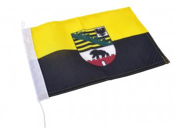 Dienstflagge - Sachsen-Anhalt mit Wappen