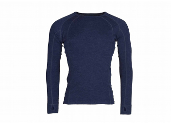Herren Shirt MERINO / marine blau