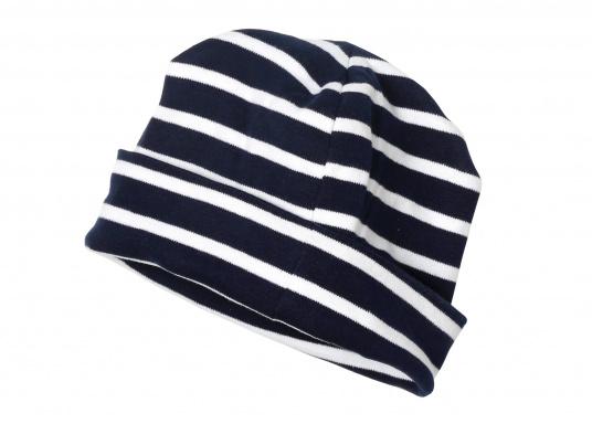 Berretto in stile Breton / blu-bianco