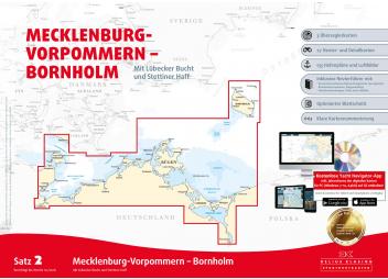 Papierkartensatz 2 - Mecklenburg-Vorpommern / Bornholm