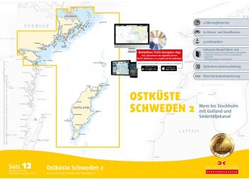 Pack 12 cartes de route - Baltique suédoise - de Mem à Stockolm