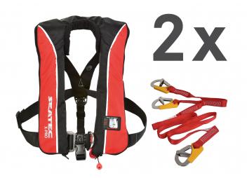 Chaleco salvavidas X-PRO 180 /180 N / con líneas de vida / set de 2