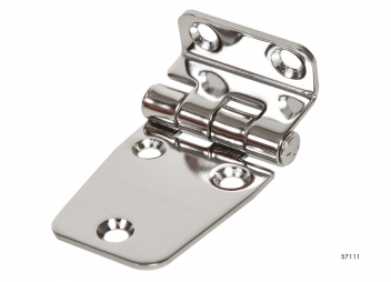 Stainless steel hinge, offset / 17 x 50 x 37 mm