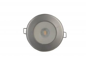 TED LED Ceiling Light / Stainless steel, satin