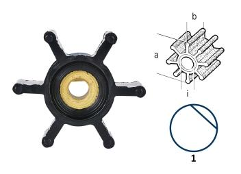 Impulsor para bomba de lavado de cubierta UP1-J